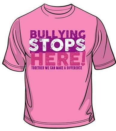Buy A T-Shirt - PINK T-SHIRT DAY SOCIETY ~ BULLYING STOPS HERE